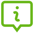 green information paddle icon